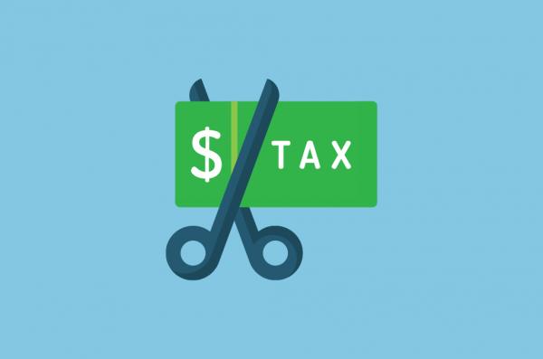 Tax Cut Graphic