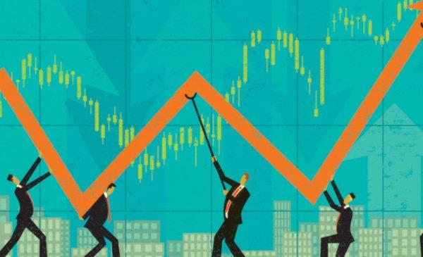 Economic chart graphic